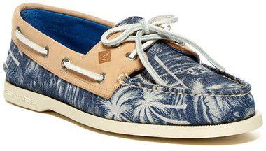 Palm Tree Print Boat Shoe | Boat shoes