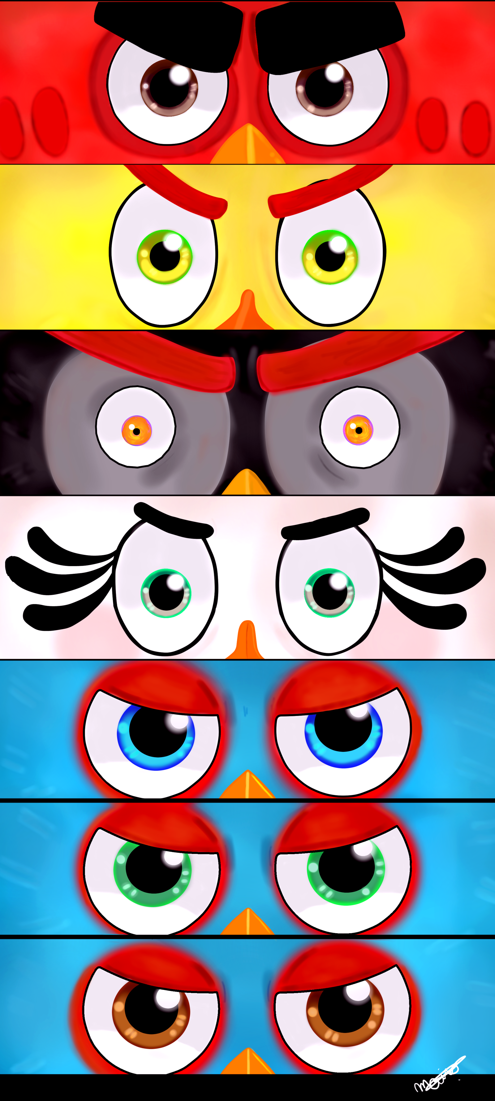 Eyes Of The Flock 7th Anniversary Angry Birds By Mai Fandraw