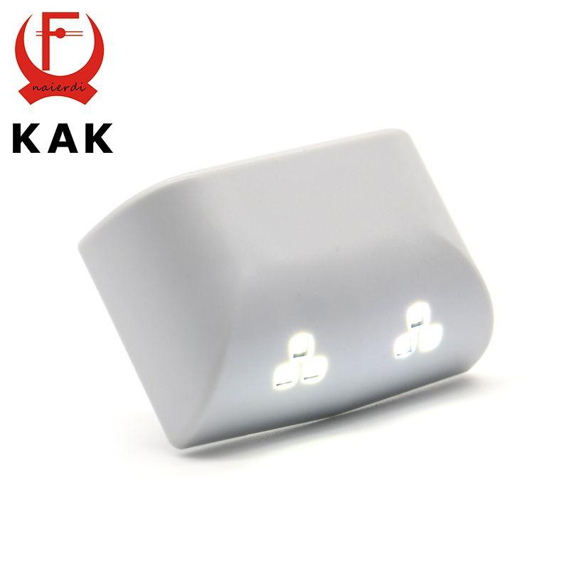 2 UNIDS KAK Universal 0.25 W Interior Bisagra Seis Nigjt Sensor de Luz LED Para La Cocina Dormitorio Sala de estar Del Gabinete Armario armario Ropero
