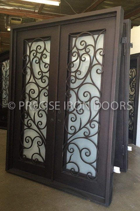 Melrose (72 x 96) (Right Hand)   Iron doors, Copper glass ...