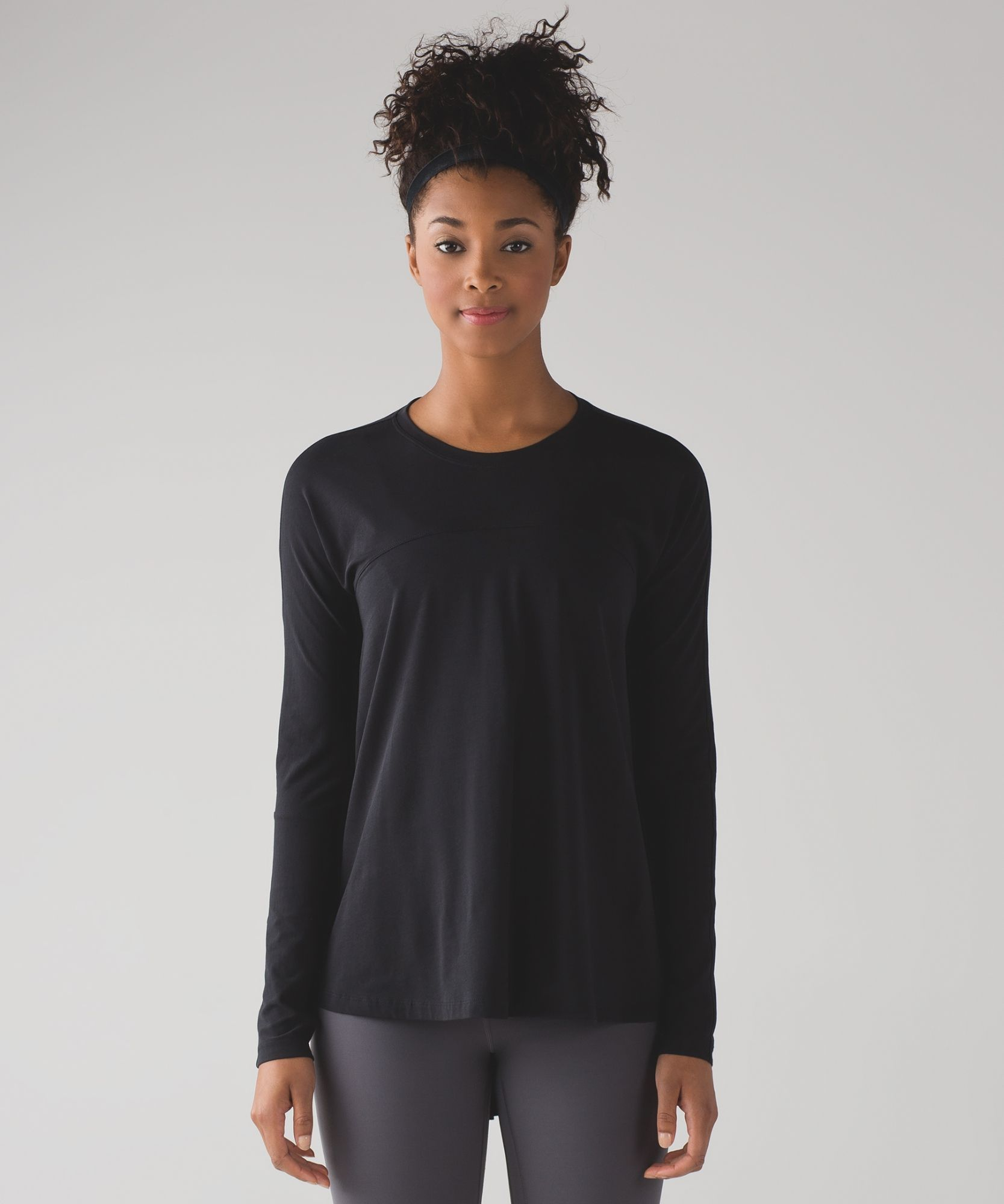 ac175ca33243 We designed this breathable long sleeve to throw on after a sweaty training  session.