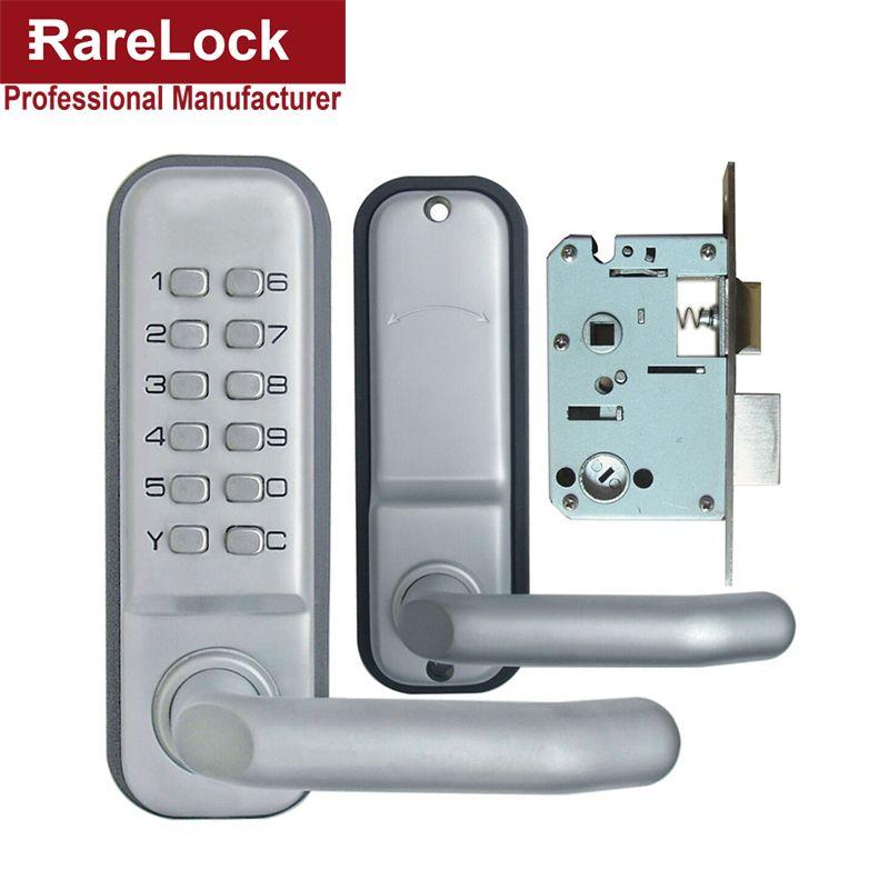 Rarelock Christmas Supplies Combination Handle Door Lock With Keys For Office Wooden Door Bedroom Two Way To Open A Entry Door Locks Deadbolt Lock Keyless