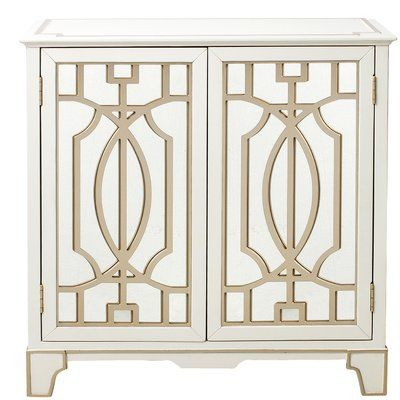 brocklesby mirrored overlay 2 door accent chest hollywood regency rh pinterest com