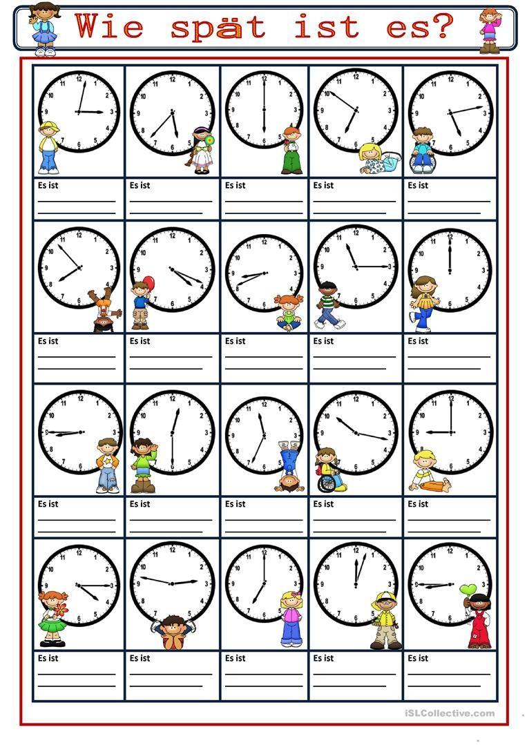 Uhr Lernen Arbeitsblätter Kostenlos