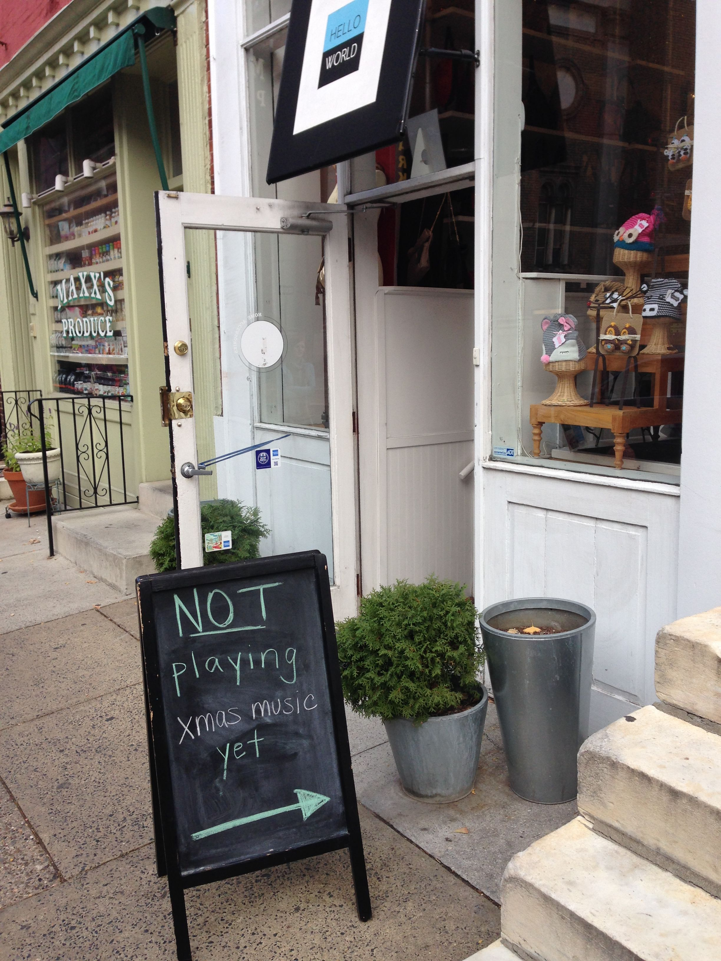 Boutique Sidewalk Sign Chalkboard