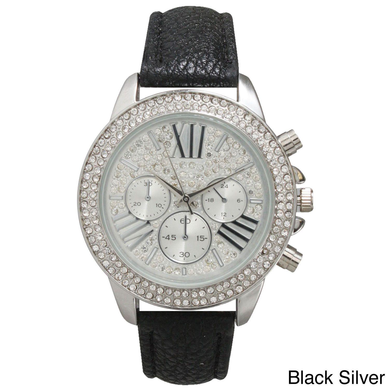 Olivia Pratt Rhinestone Bezel Classic-inspired Women's Watch