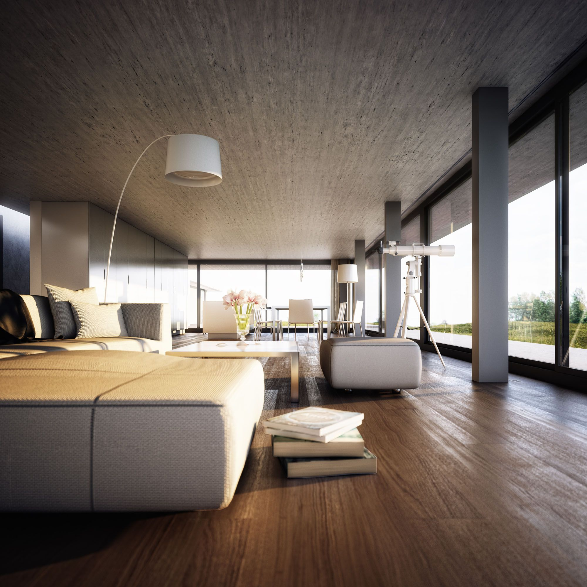 modern house interiors%0A Belgian architect Bruno Erpicum u     Labacaho House in Spain inspired German  architectural visualization powerhouse Lichtecht to recreate the house in  Talk abo