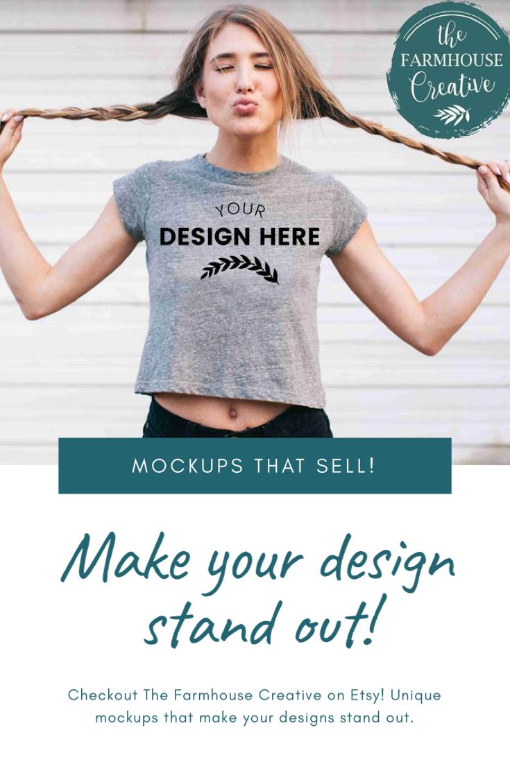 Cute Girl Tshirt Mockup Model Mockup Bella Canvas Mockup Etsy Shirt Mockup Online Tshirt Design Tshirt Mockup