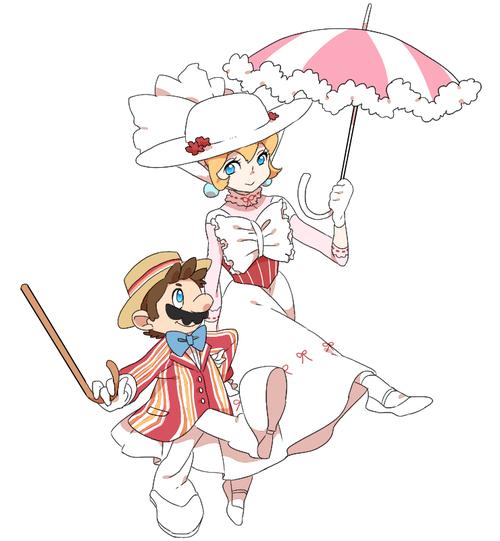Princess peach as Mary Poppins