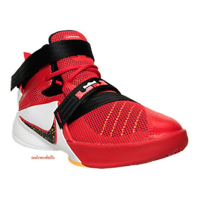c4883f8b2822 kid shoes Nike Lebron Soldier GS IX 9 crimson red black Basketball Size 6Y  new  NIKE  Athletic