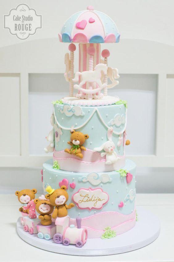 Baby Carousel Cake Cake by Ceca79 Carousel Cake Pinterest