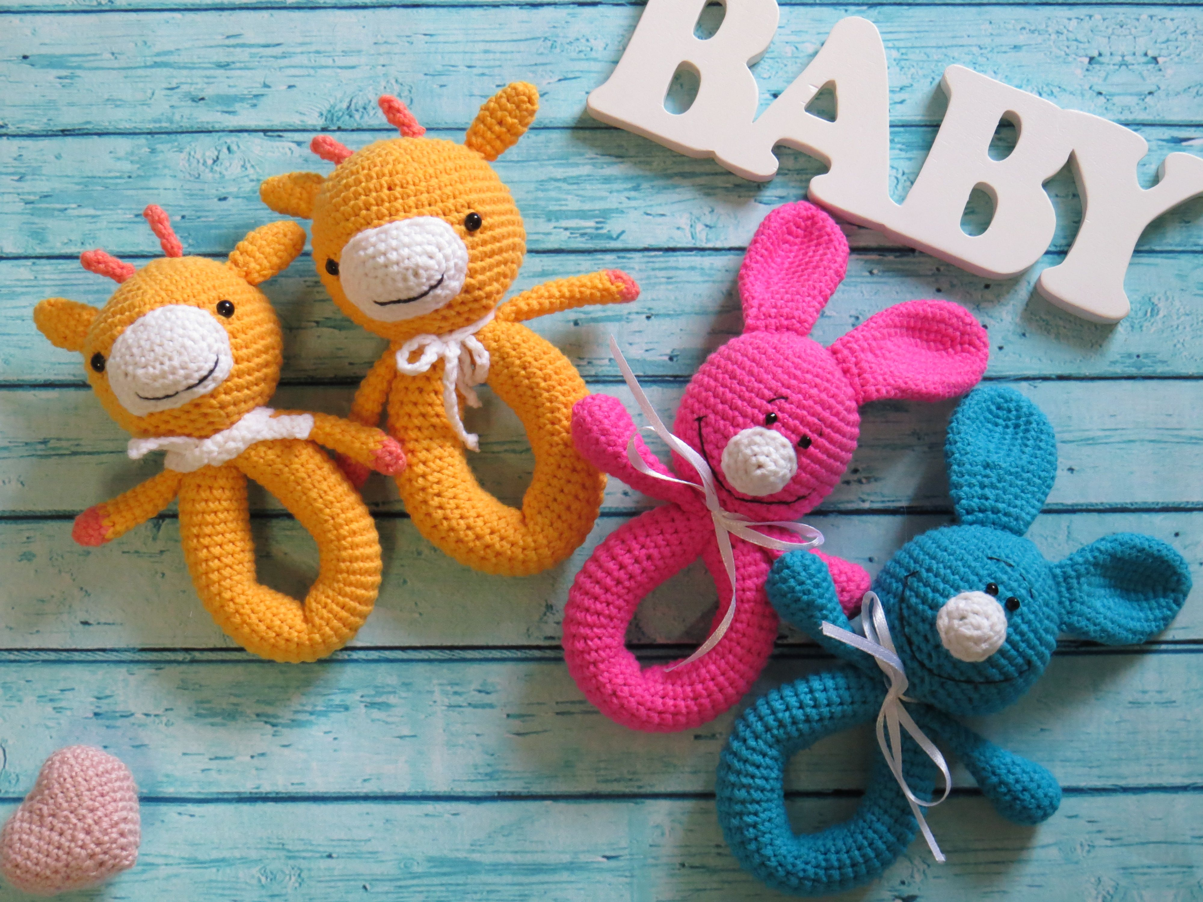 Images of baby toys  Rattle Newborn toy Crochet baby toy First toy Baby toy Bed toy
