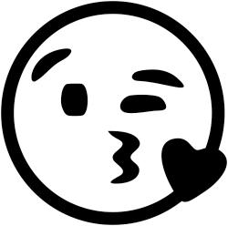 Heart Kiss Emoji Stamp Emoji Coloring Pages Kiss Emoji Coloring Pages