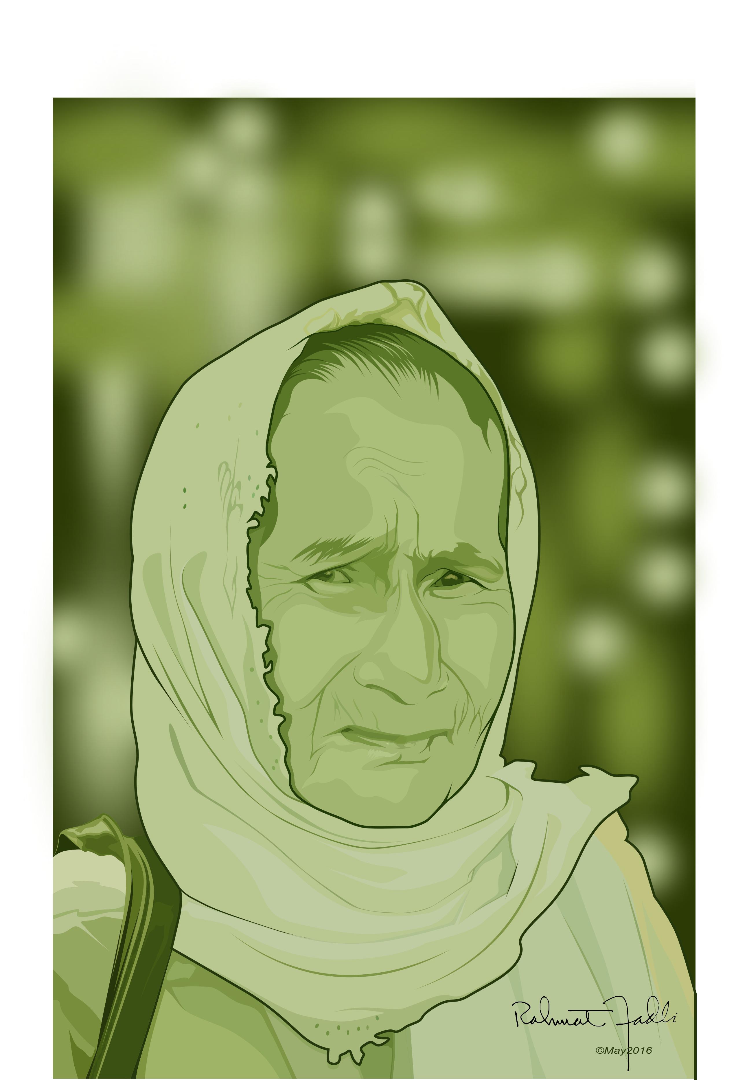 Coreldraw vector graphics - My Grandmother On Corel Draw Vector Illustration