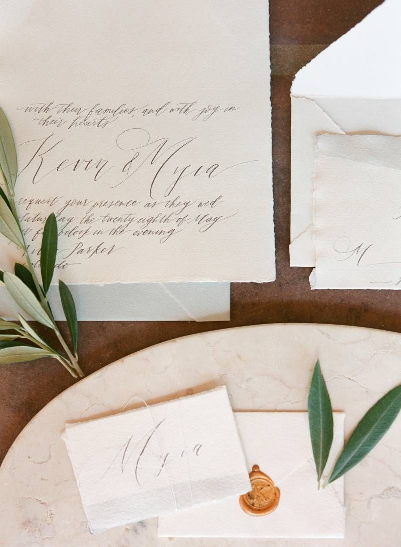 Spanish inspired intimate dinner wedding celebration via