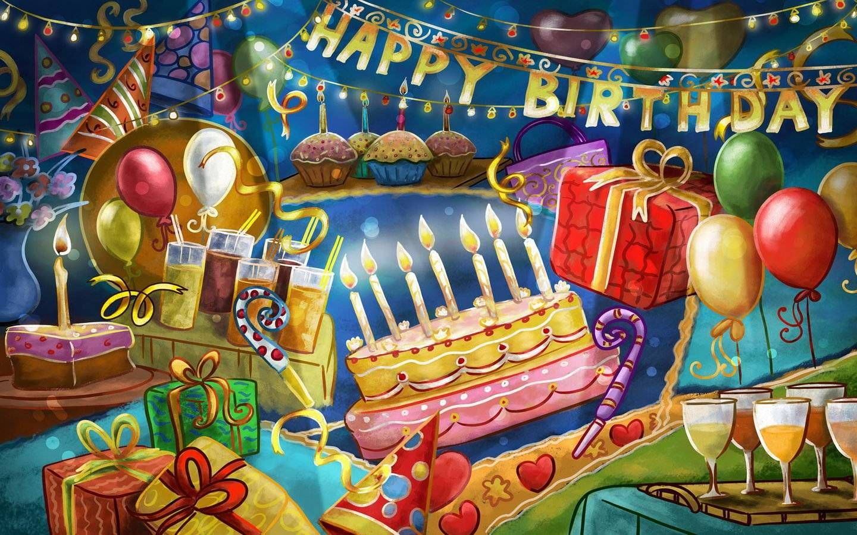 birthday party screensaver backgroun3d