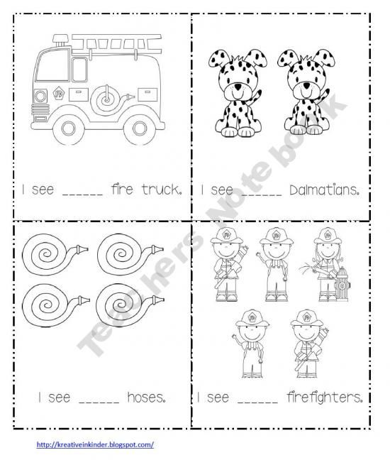 Counting Fire Safety Theme Book Fire Safety Theme Fire Safety Worksheets Fire Safety Week
