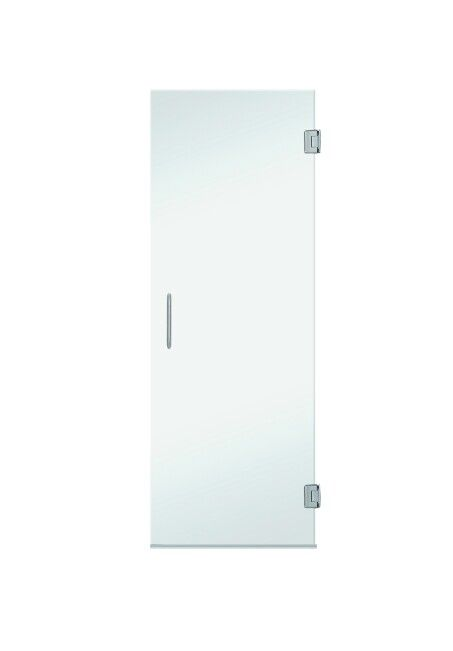 www.coastalind.com Value Line Series Frameless Shower Door Only Chrome Finish / Clear Glass
