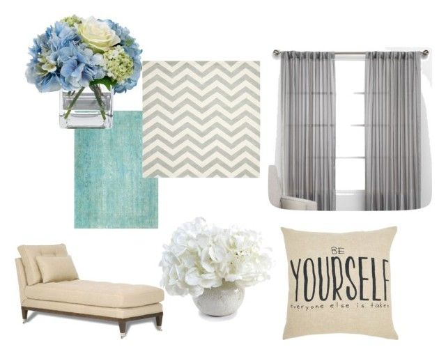 Cool toned colors by slizausaba on Polyvore featuring interior, interiors, interior design, home, home decor, interior decorating, Diane James, New Growth Designs and Kravet