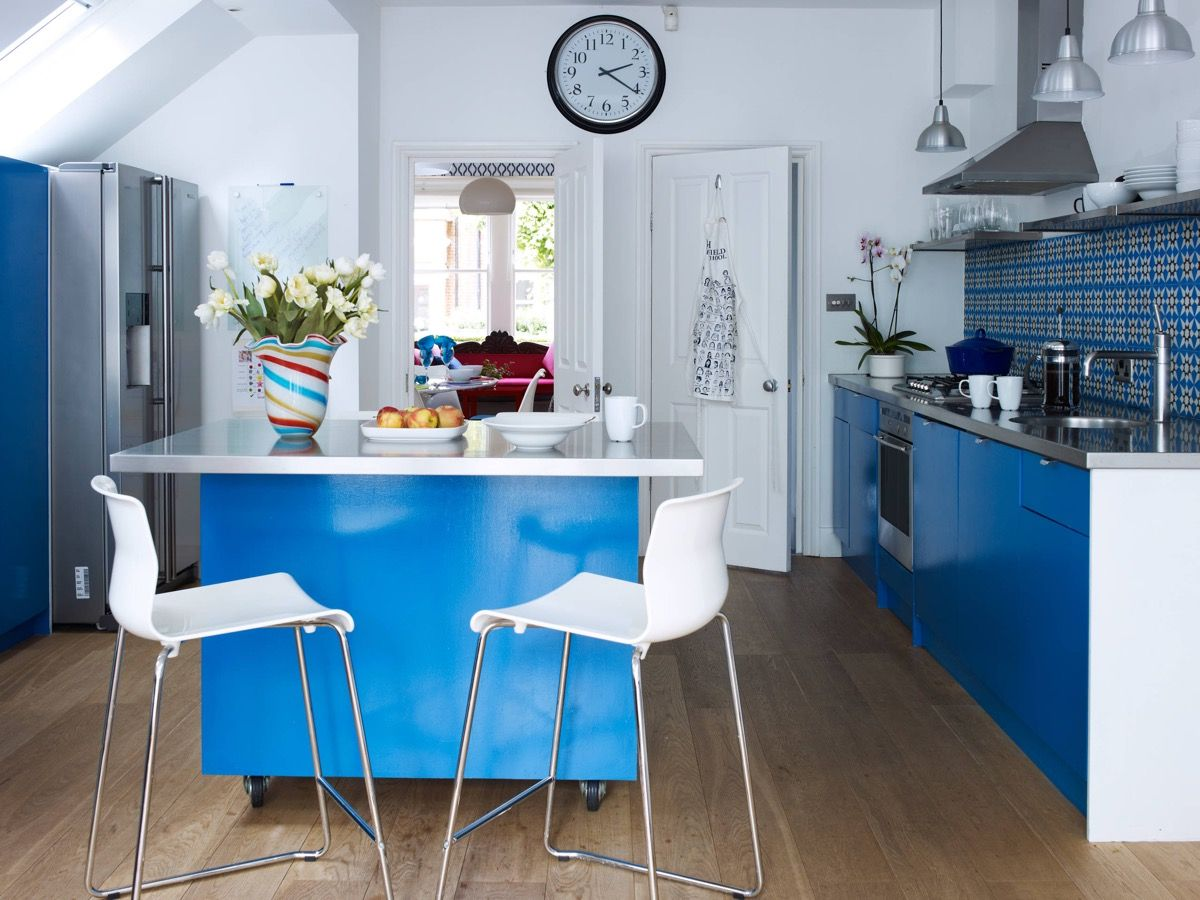 Küchenschrank ideen kleine küchen  schöne blaue küchen um ihren tag zu erhellen  küchen