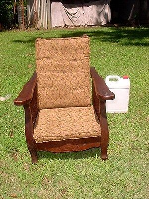 antique heywood wakefield childs oak reclining morris chair arts rh pinterest com