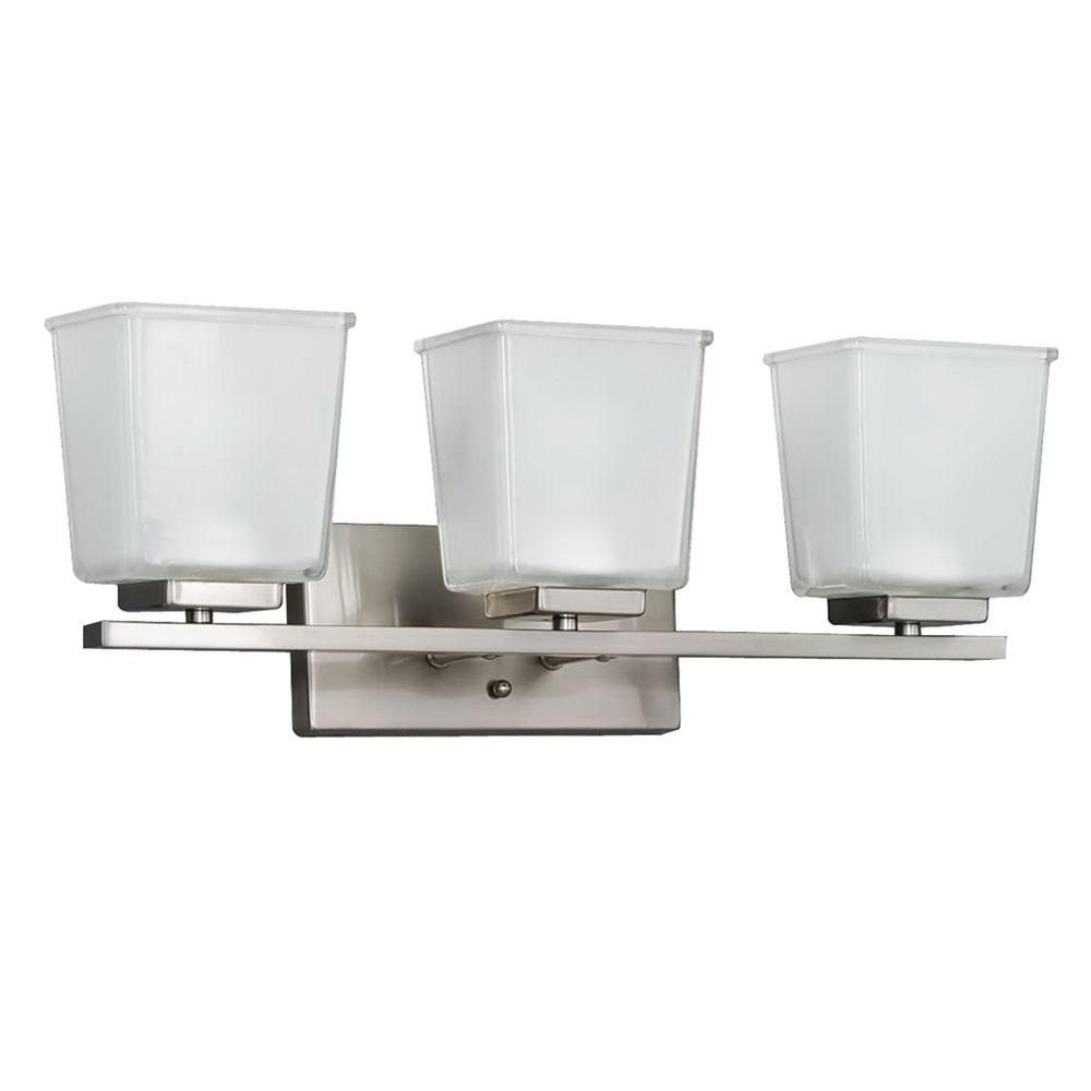 null 3 light brushed nickel vanity wall fixture deco wall rh pinterest com
