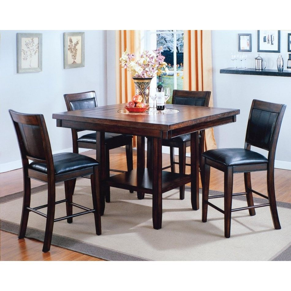mirada dining - counter height table & 4 chairs (2727) | conn's