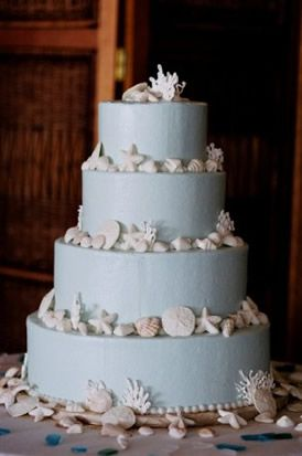 Pin By Kelly Nelson On Getting Married Time To Make A Board Beach Wedding Cake Diy Wedding Cake Beach Theme Wedding Favors