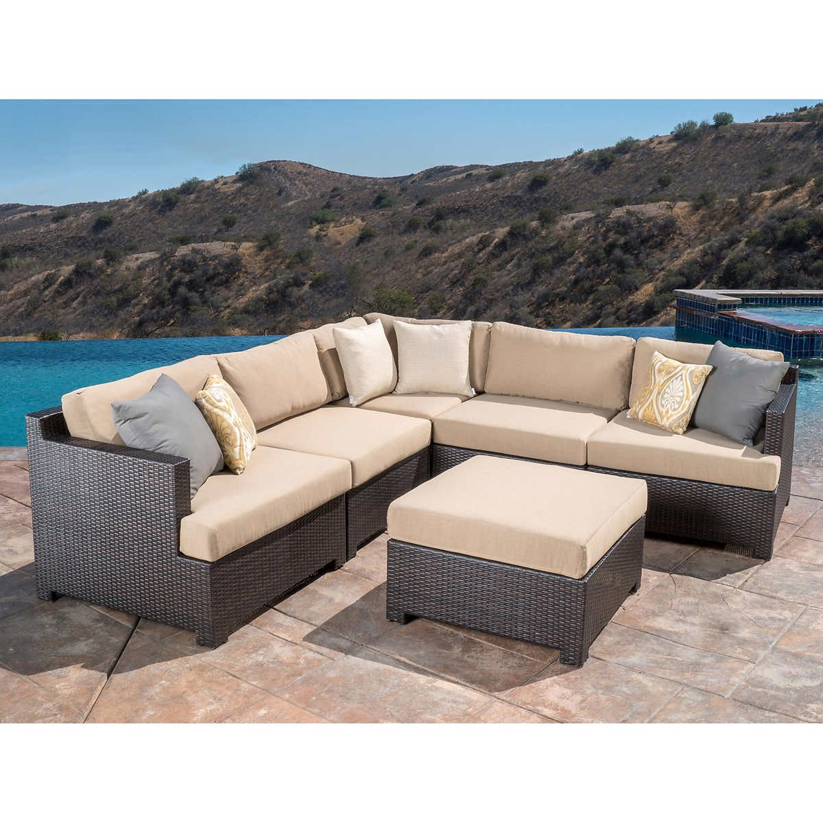 belmont 6 piece modular sectional set in 2019 home improvement rh pinterest com