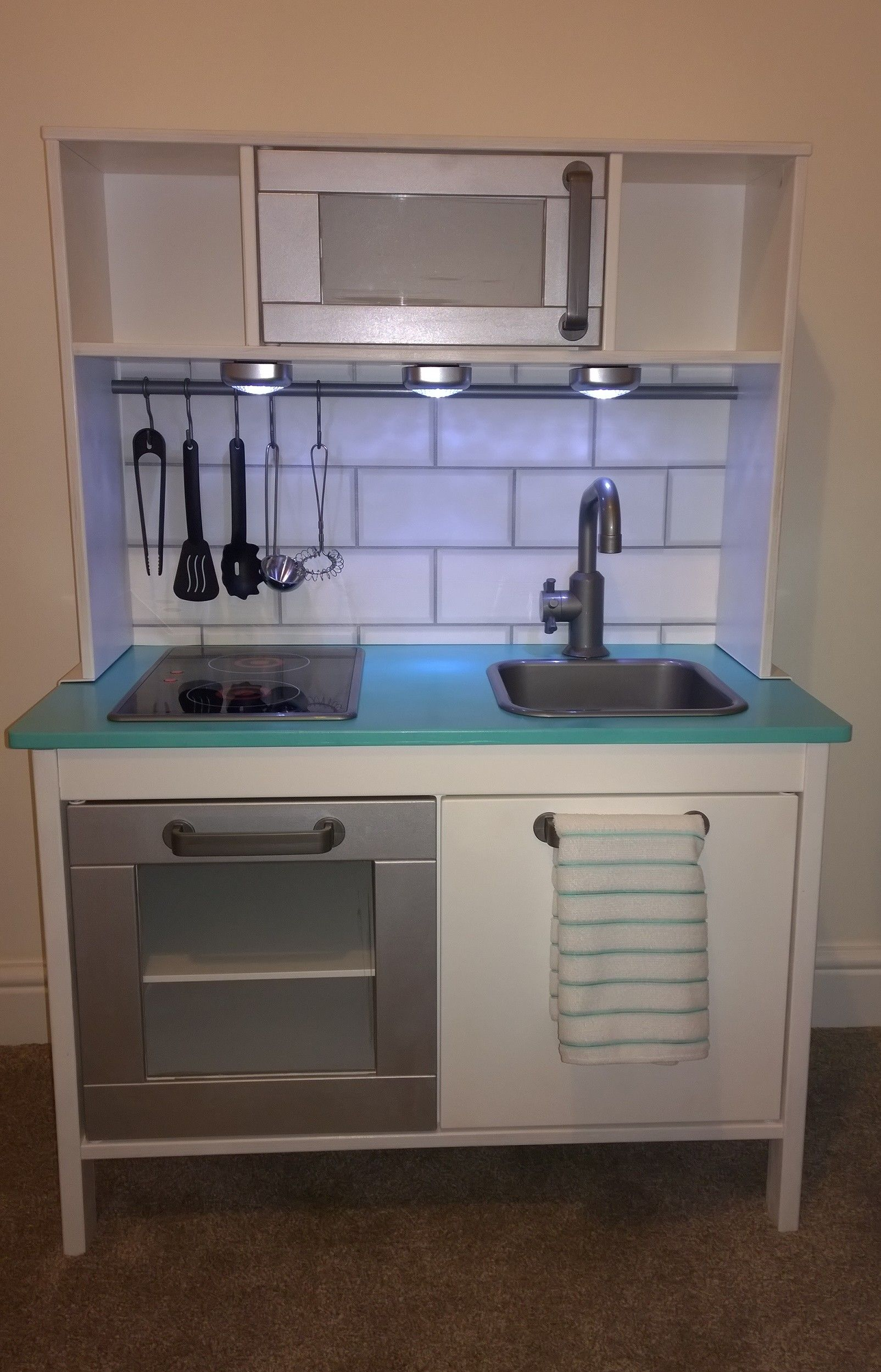 my ikea duktig kitchen makeover deko diy pinterest kinderk che ikea kinderk che und ikea. Black Bedroom Furniture Sets. Home Design Ideas