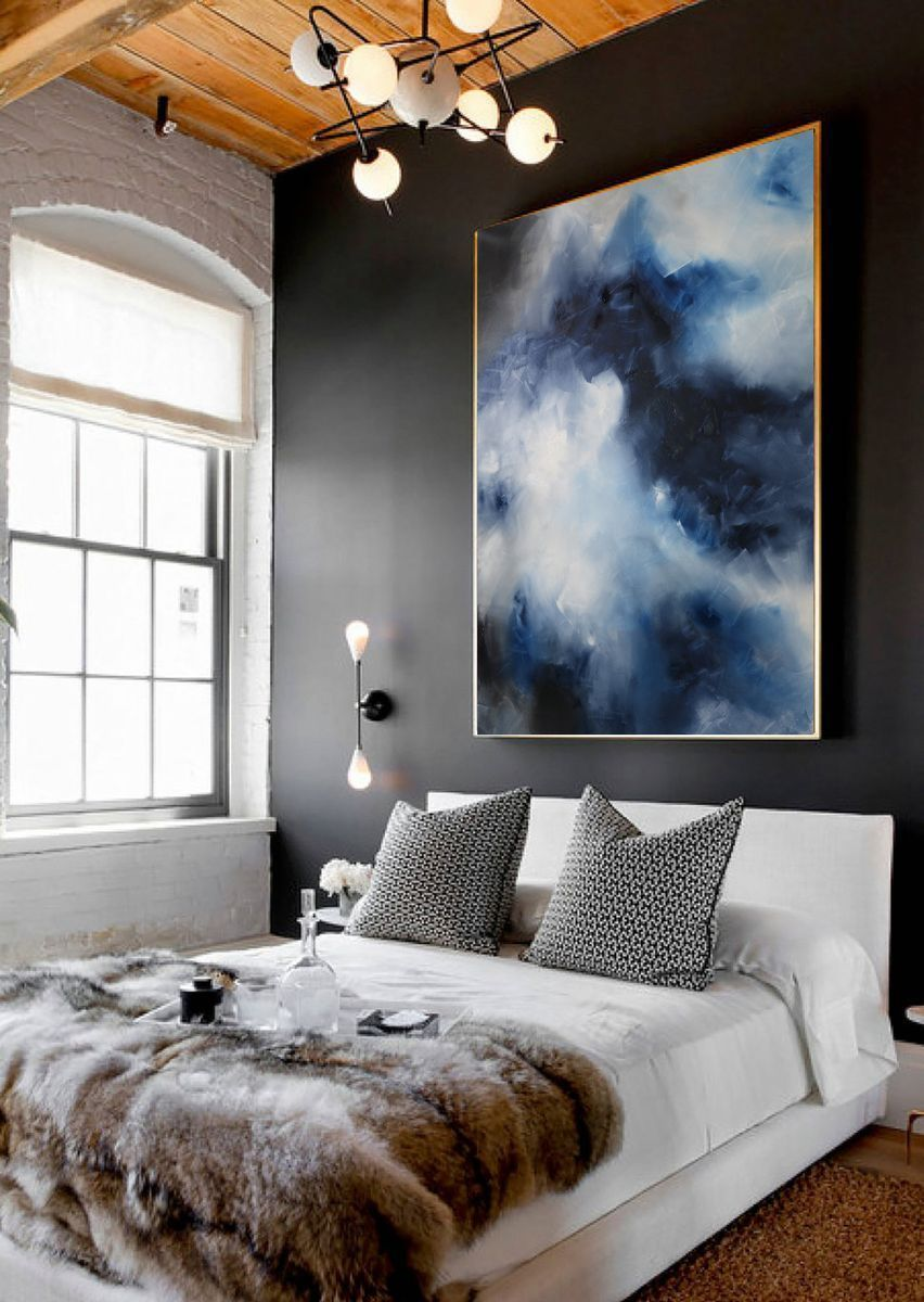 artpainting bedroom in 2019 painting art blue abstract painting rh pinterest com
