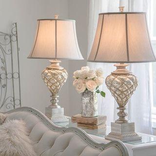 Luke Mercury Glass Table Lamp with Built In LED Nightlight