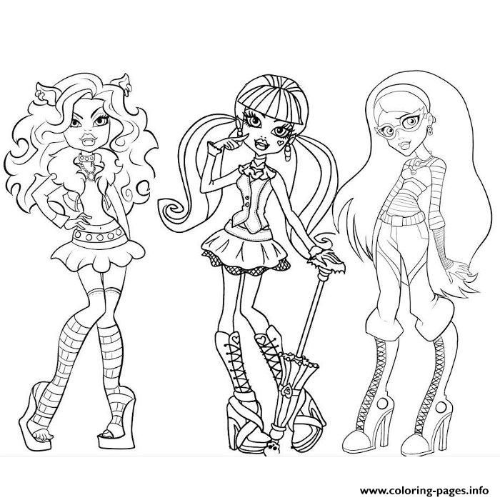 Print monster high coloring pages | 2 Color * Monster High | Pinterest