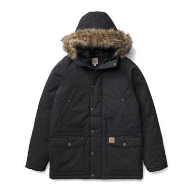 carhartt kleding jassen trapper parka black   Kleding jassen