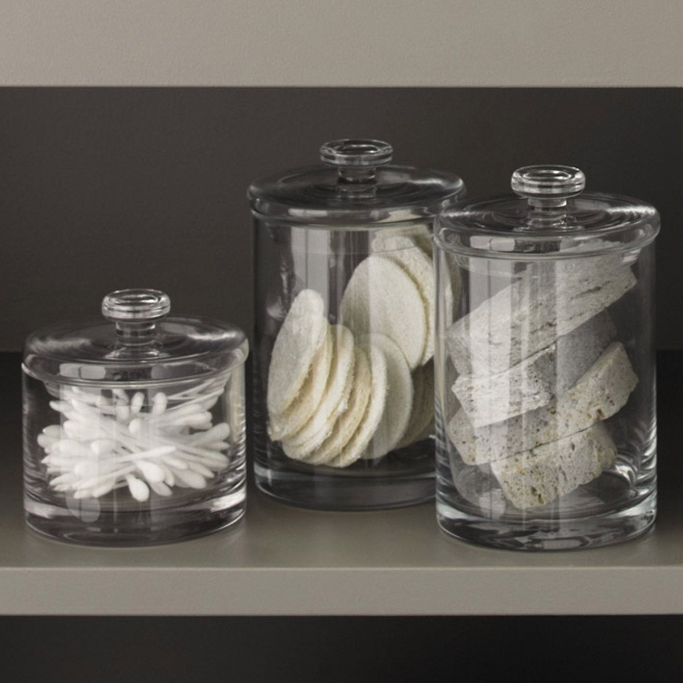 Glass Storage Jars For The Bathroom Glass Storage Containers