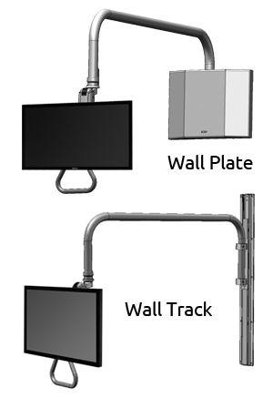 overhead arm monitor mount wall mount icw dental sit stand rh pinterest com