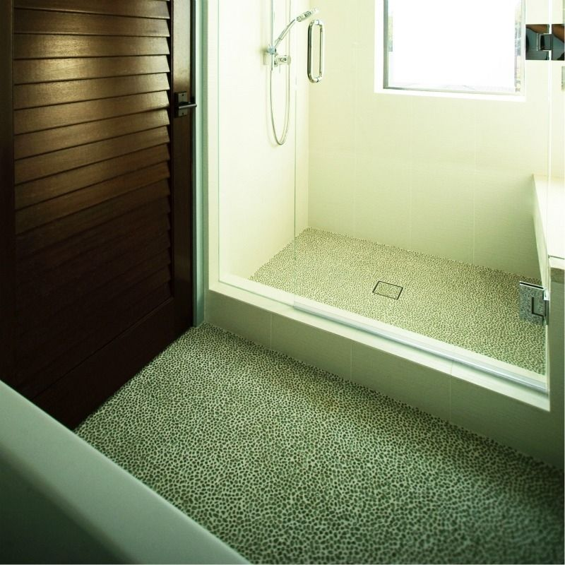cost of tile for bathroom floor%0A ModRocks Recycled Glass Pebble floor