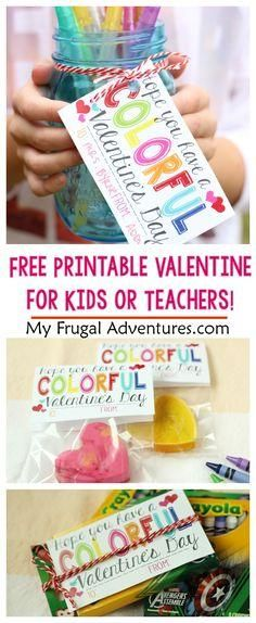 c0b602d8e7e Have a Colorful Valentine s Day-- cute noncandy option for kid s valentines  or use this a teacher gift!