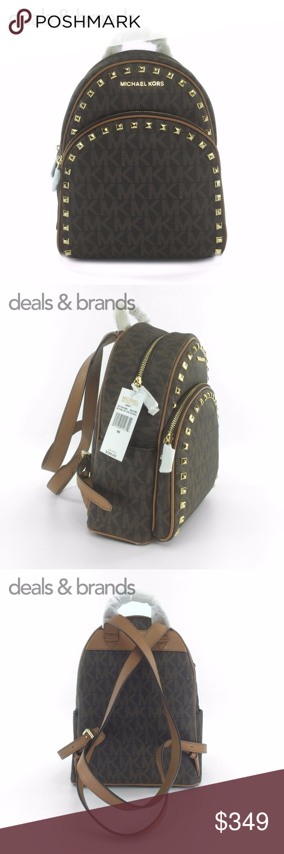 328c8db4a307 NWT MICHAEL KORS Abbey Medium Studded Backpack MICHAEL KORS ABBEY MEDIUM  FRAME OUT STUDDED BACKPACK IN