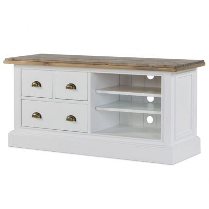 Tremendous White Wood Tv Unit Snow White From Big Blu Furniture Uk In Machost Co Dining Chair Design Ideas Machostcouk