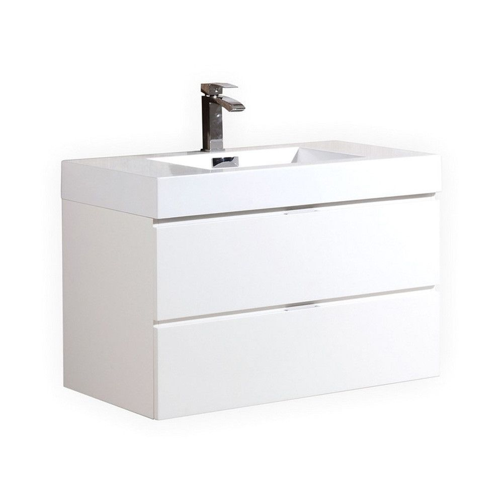kubebath bliss 40 high gloss white wall mount single sink floating rh pinterest ch