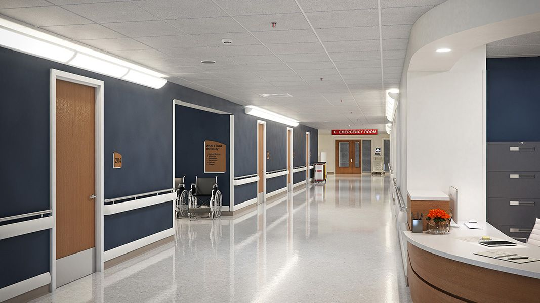 hospital corridor door wall protection in 2019 hospital design rh pinterest com