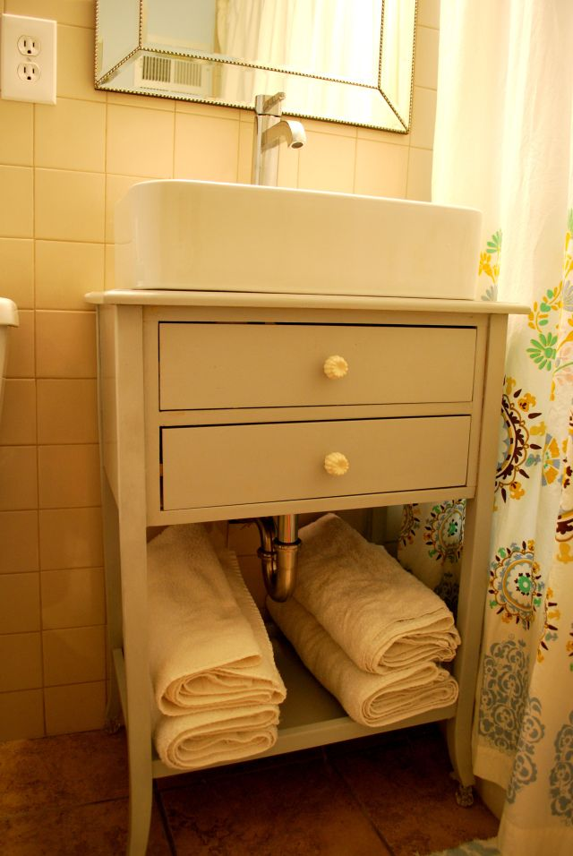 diy pedestal sink Out with the Bathroom