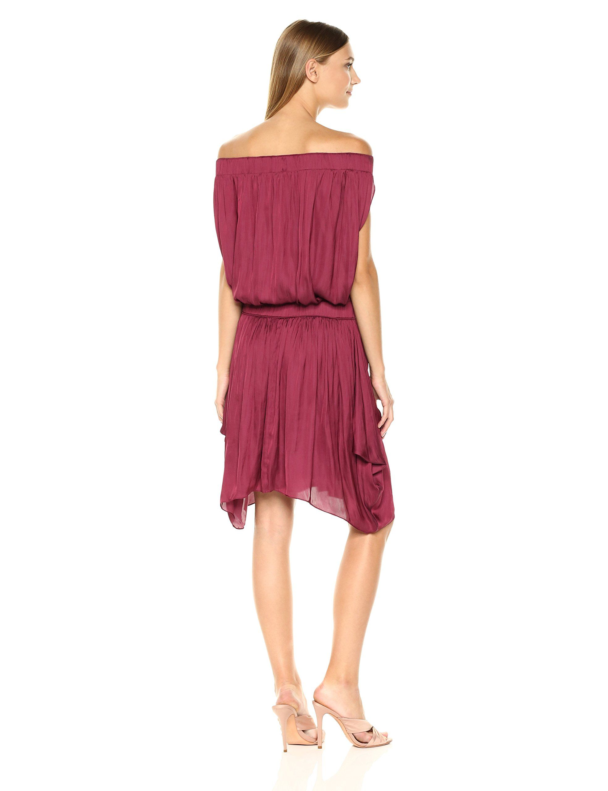 5c9bbaa0d60c5e Halston Heritage Womens Off Shldr Satin Dress W Flowy Skirt Dark Wild Berry  XL ** Review a lot more at the image link. (This is an affiliate link).