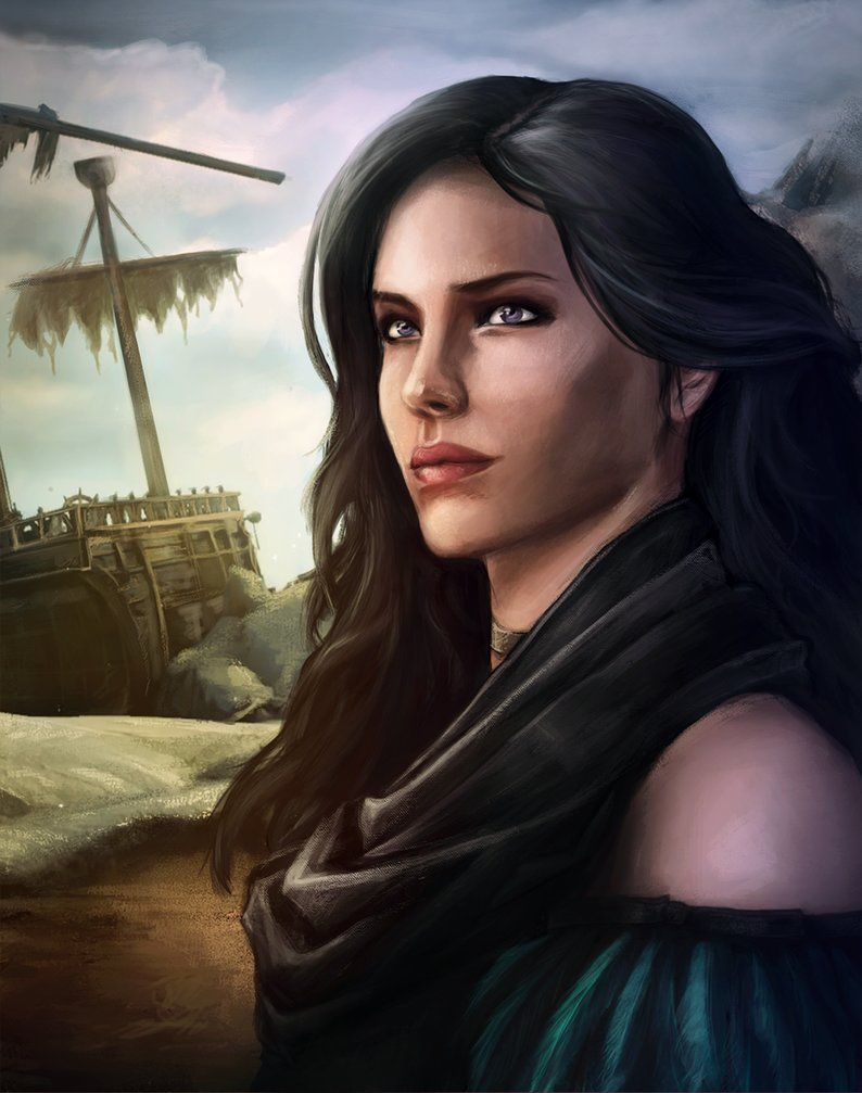 Yennefer Of Vengerberg By Isminne Deviantart Com On Deviantart Digital Portrait Witcher Art The Witcher Game