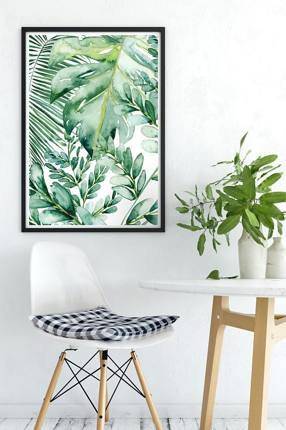 Banana Leaf Wall Art Banana Leaf Decor Palm Leaf Art Print Etsy Leaf Decor Leaf Wall Art Banana Leaf Decor