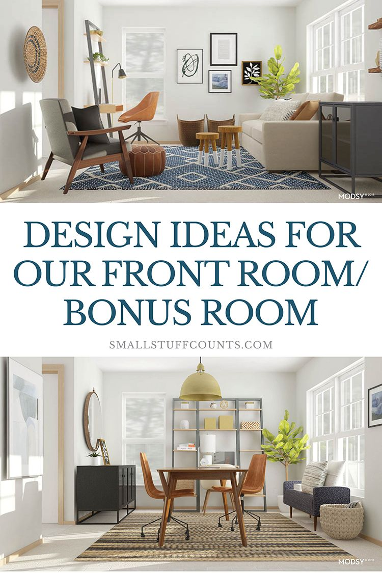 What a pretty small studio/study space! I love the modern look of this room and all of that shelving is great for storage. This is a good idea for our bonus ...