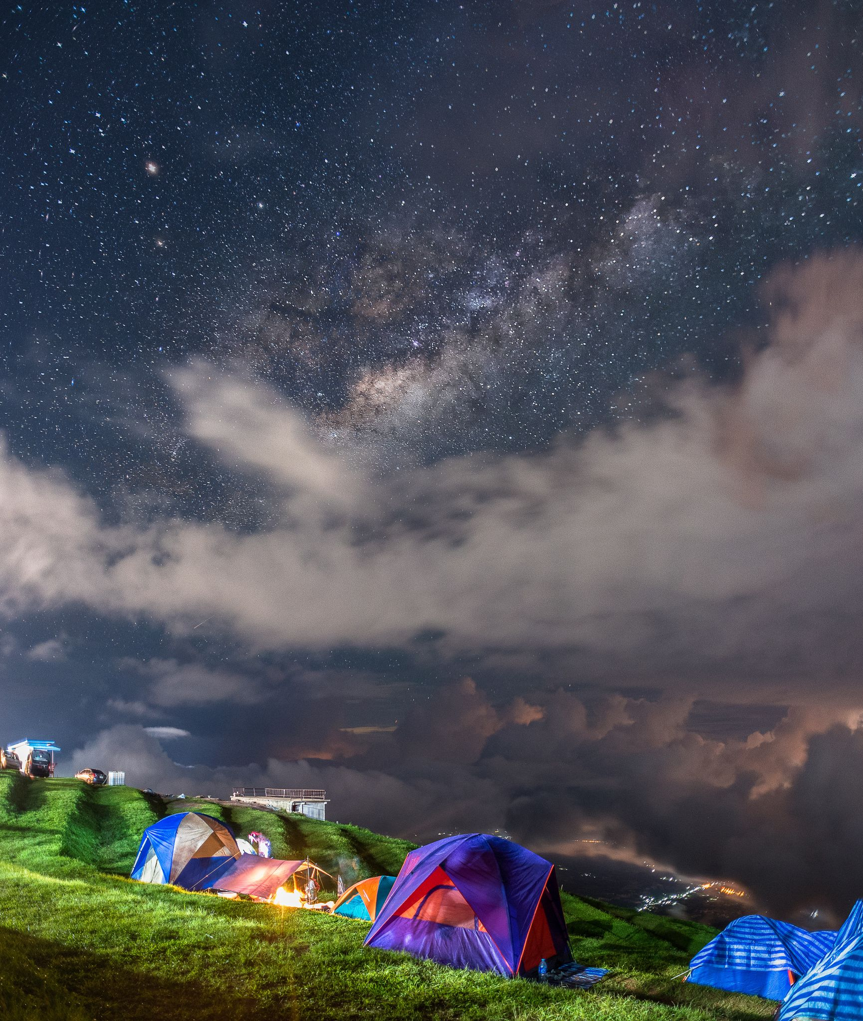 The Night Sky At The Camping Area At The
