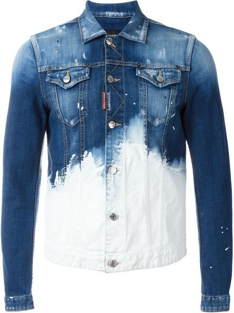 DSQUARED2 Paint Splatter Denim Jacket.  dsquared2  cloth  jacket ... d25e85ab63f1c