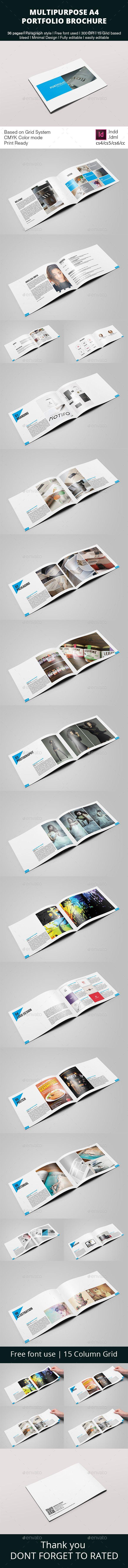 Multipurpose Portfolio Brochure Template — InDesign INDD #portfolio #portfolio template • Available here → https://graphicriver.net/item/multipurpose-portfolio-brochure-template/10936904?ref=pxcr